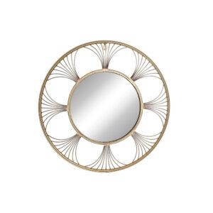 Espelho de parede DKD Home Decor Metal Cristal (68.5 x 2.5 x 68.5 cm)