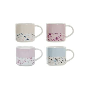 4 Canecas DKD Home Decor Porcelana Bone China (420 ml)