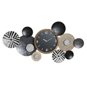 Relógio de Parede DKD Home Decor Multicolor Metal (124 x 9 x 65 cm)