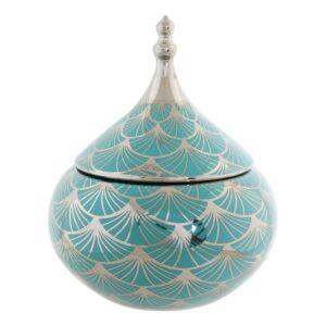 Guarda-Joias DKD Home Decor Porcelana Oriental (18 x 18 x 22 cm)