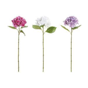 3 Flores Decorativa DKD Home Decor Branco Plástico Ferro Fúcsia Lilás