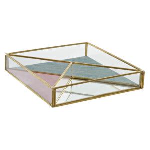 Guarda-Joias DKD Home Decor Metal Cristal Moderno (20 x 20 x 3.5 cm)