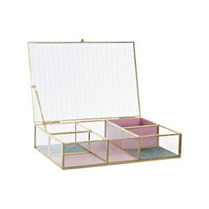Guarda-Joias DKD Home Decor Metal Cristal Moderno (25 x 17 x 5.5 cm)