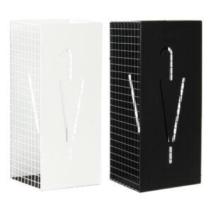 2 Suportes para guarda-chuvas DKD Home Decor Branco Preto Metal (19.5 x 20 x 47.5 cm)