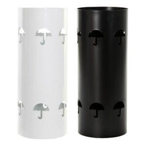 2 Suportes para guarda-chuvas DKD Home Decor Branco Preto Metal (19.5 x 19.5 x 47.5 cm)