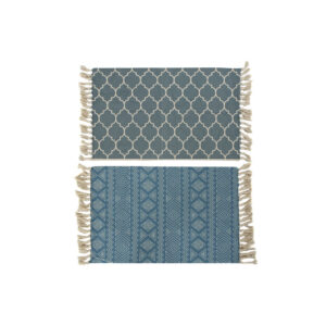 2 Tapetes DKD Home Decor Azul Poliéster Algodão  (100 x 59 x 1 cm)