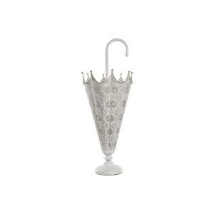 Suporte para guarda-chuvas DKD Home Decor Branco Metal Dourado (30 x 30 x 76.5 cm)