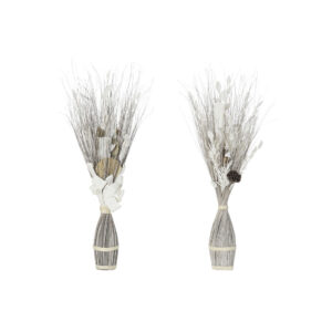 2 Ramos DKD Home Decor Bloemen Fibra de coco (2 pcs) (40 x 40 x 100 cm)