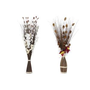 2 Ramos DKD Home Decor Bloemen Fibra de coco (40 x 40 x 100 cm)