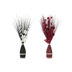Ramo DKD Home Decor Bloemen Fibra de coco (30 x 30 x 100 cm)