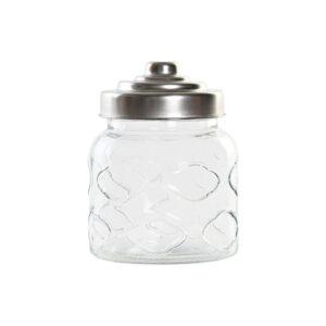 Bote DKD Home Decor Cristal Aço (10 x 10 x 13.5 cm)