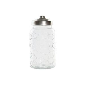 Bote DKD Home Decor Cristal Aço (10.6 x 10.6 x 21 cm)