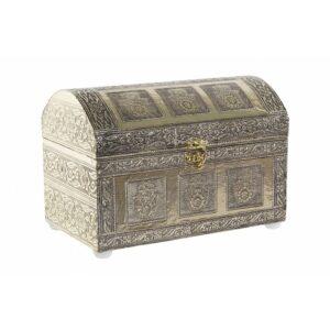 Guarda-Joias DKD Home Decor Madeira Alumínio Árabe (1 pcs) (25 x 15.5 x 16.7 cm)