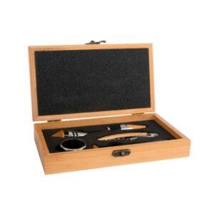 Conjunto de 5 Acessórios para Vinho DKD Home Decor Bambu Aço inoxidável Marrom claro  (23 x 13 x 5 cm)