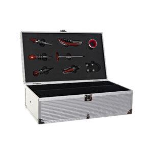 Conjunto de 8 Acessórios para Vinho DKD Home Decor Aço inoxidável Alumínio Prateado (38 x 23 x 12 cm)