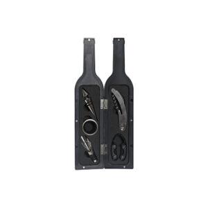 Conjunto de 6 Acessórios para Vinho DKD Home Decor Preto Vermelho Aço inoxidável ABS