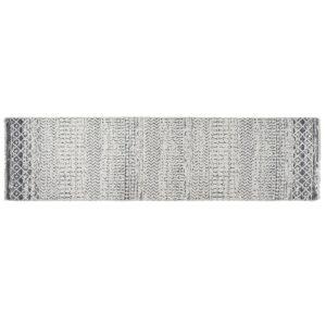 Tapete DKD Home Decor Branco Cinzento Poliéster Algodão (60 x 240 x 1 cm)