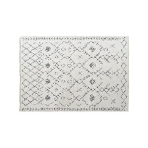 Tapete DKD Home Decor Branco Cinzento Poliéster Algodão (120 x 180 x 1 cm)