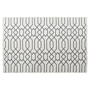 Tapete DKD Home Decor Branco Cinzento Poliéster Algodão (200 x 290 x 1 cm)