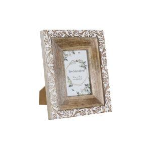 Moldura de Fotos DKD Home Decor Cristal Madeira de mangueira Cottage (21 x 2.5 x 26.5 cm)