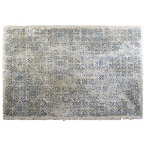 Tapete DKD Home Decor Azul Bege Algodão Azulejo (160 x 230 x 1 cm)