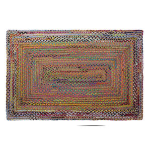 Tapete DKD Home Decor Castanho Multicolor Jute Algodão (120 x 180 x 1 cm)