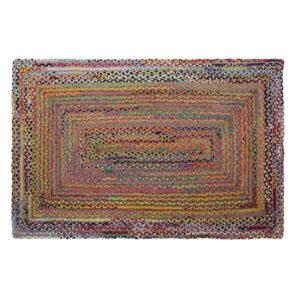 Tapete DKD Home Decor Castanho Multicolor Jute Algodão (160 x 230 x 1 cm)