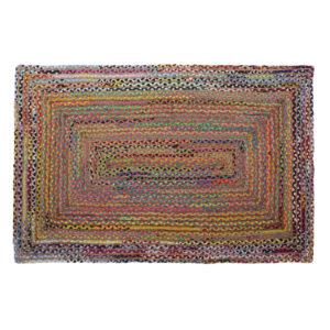 Tapete DKD Home Decor Castanho Multicolor Jute Algodão (200 x 290 x 1 cm)