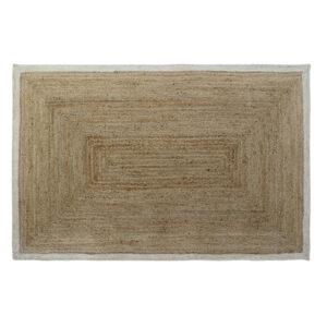 Tapete DKD Home Decor Branco Jute Algodão Marrom claro (120 x 180 x 1 cm)