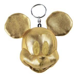 Porta-chaves Peluche Mickey Mouse Dourado