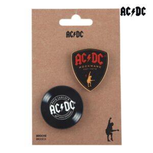 Fecho ACDC Preto (2 uds)