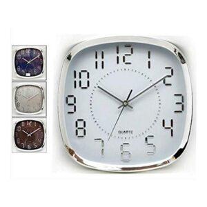 Relógio de Parede Plástico (31 x 4,5 x 31 cm)
