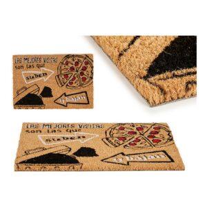 Tapete Pizza Castanho Preto Fibra de coco (40 x 2 x 60 cm)