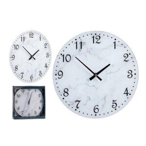 Relógio de Parede Branco Cristal (30 x 4 x 30 cm)