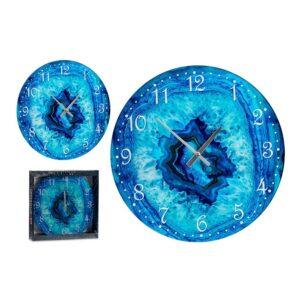 Relógio de Parede Turquesa Cristal (30 x 4 x 30 cm)