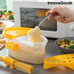 Caixa para Cozinhar Massa no Micro-ondas 4 em 1 com Acessórios e Receitas - VEJA O VIDEO