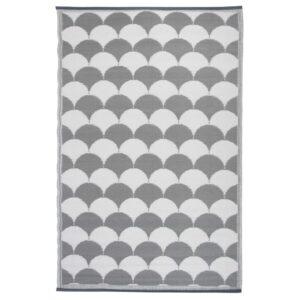 Esschert Design Tapete de ext. gráficos 180x121cm cinzento/branco OC24 - PORTES GRÁTIS