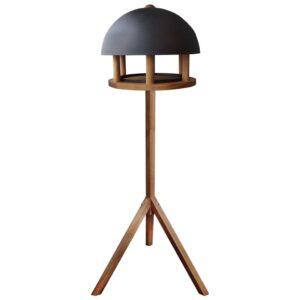 Esschert Design Comedouro para aves c/ telhado de aço redondo FB429 - PORTES GRÁTIS