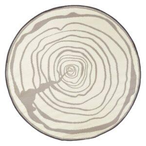 Esschert Design Tapete de exterior 170 cm de diâmetro anéis a crescer - PORTES GRÁTIS