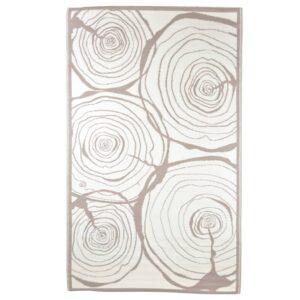 Esschert Design Tapete de exterior 240x150cm estampa anéis a crescer - PORTES GRÁTIS