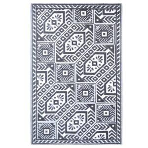 Esschert Design Tapete de exterior 182x122 cm padrões diamante - PORTES GRÁTIS