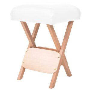 Banco de massagem dobrável assento c/ 12 cm de espessura branco - PORTES GRÁTIS