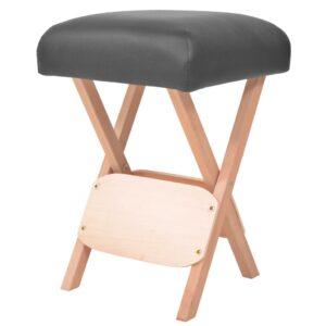 Banco de massagem dobrável assento c/ 12 cm de espessura preto - PORTES GRÁTIS