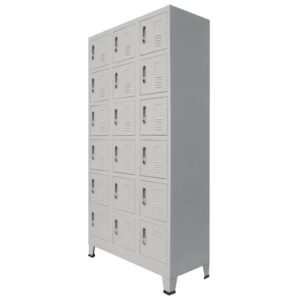 Cacifo com 18 compartimentos metal 90x40x180 cm  - PORTES GRÁTIS