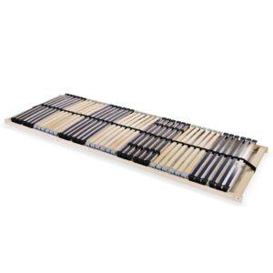Estrado de ripas com 42 ripas 7 zonas 80x200 cm FSC - PORTES GRÁTIS