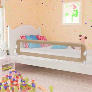 Barra segur. cama infantil 180x42cm poliéster cinza-acastanhado - PORTES GRÁTIS