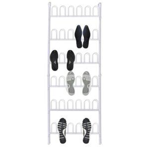 Suporte para sapatos de aço branco 18 pares - PORTES GRÁTIS