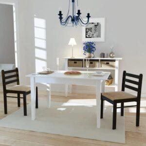Cadeiras de jantar 2 pcs seringueira maciça e veludo castanho - PORTES GRÁTIS