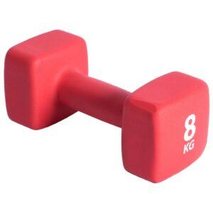 Pure2Improve Haltere 8 kg neoprene vermelho - PORTES GRÁTIS