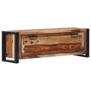 Sapateira 120x35x40 cm madeira sheesham maciça - PORTES GRÁTIS